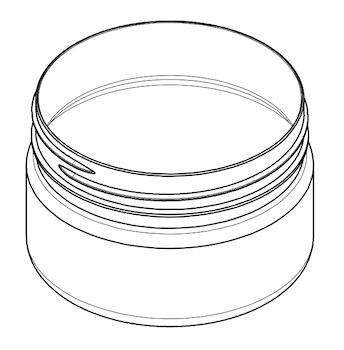 Jar Cylinder 300 ml